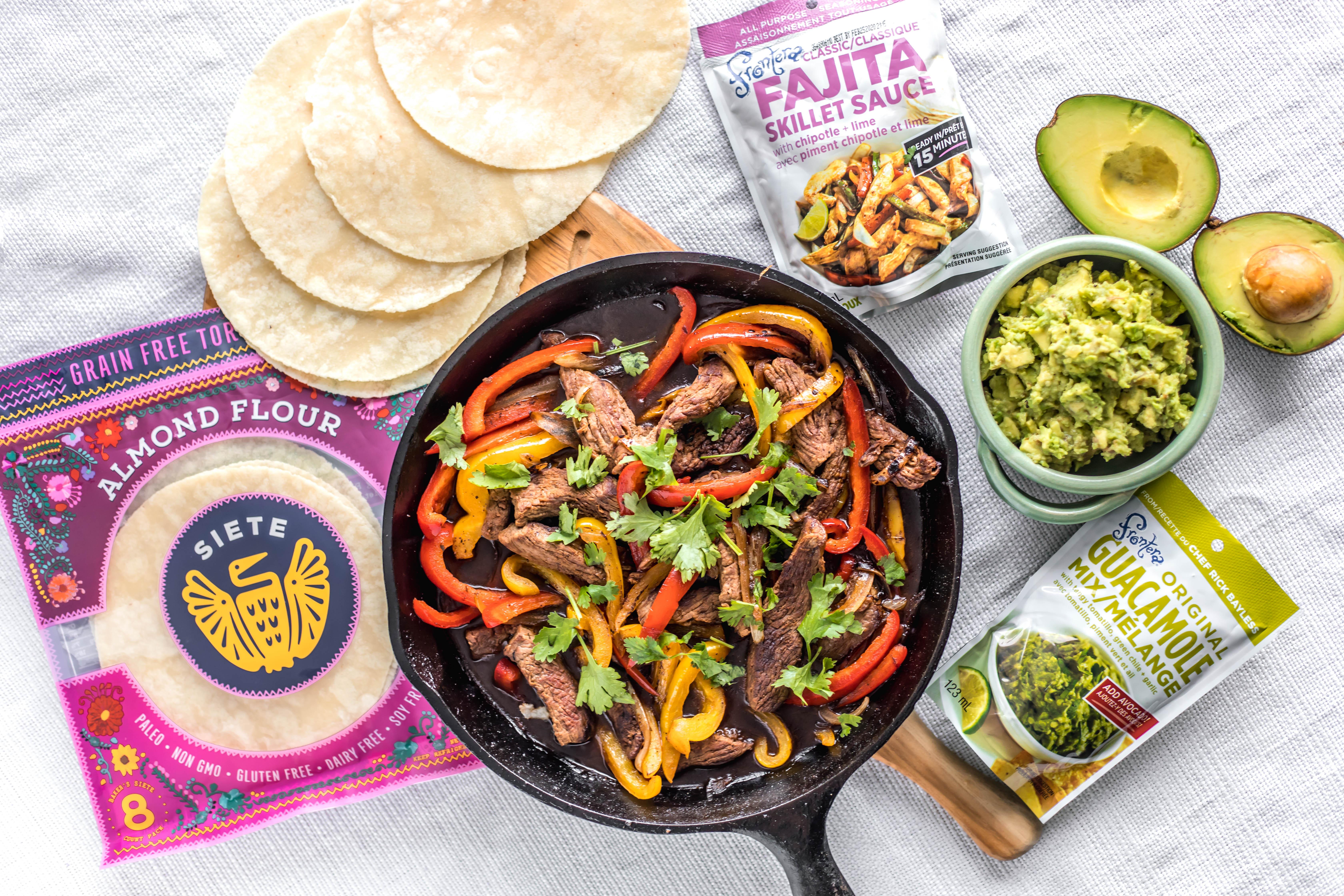 Quick & Easy Frontera Steak Fajitas with Guacamole