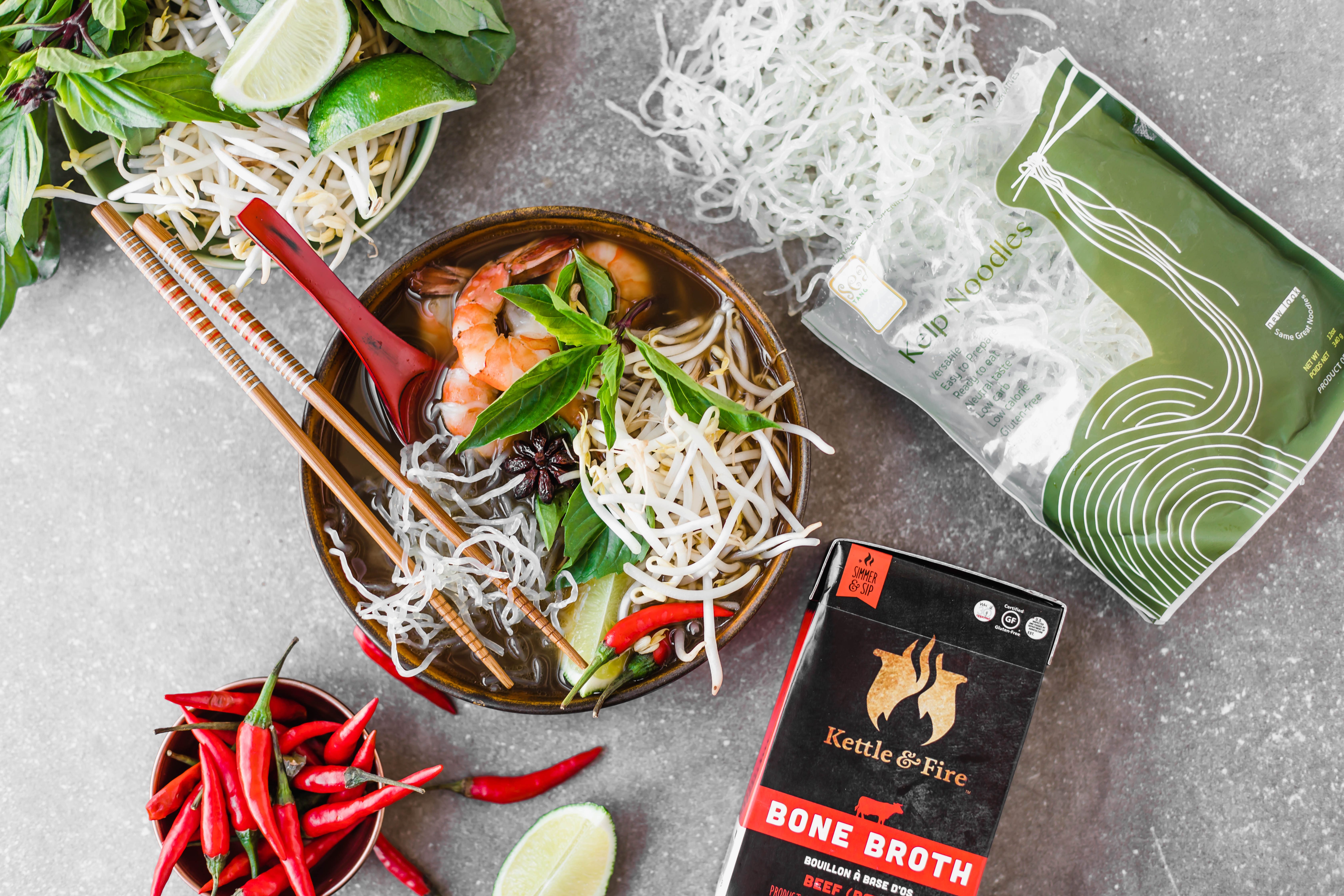 Keto Kelp Noodle Pho