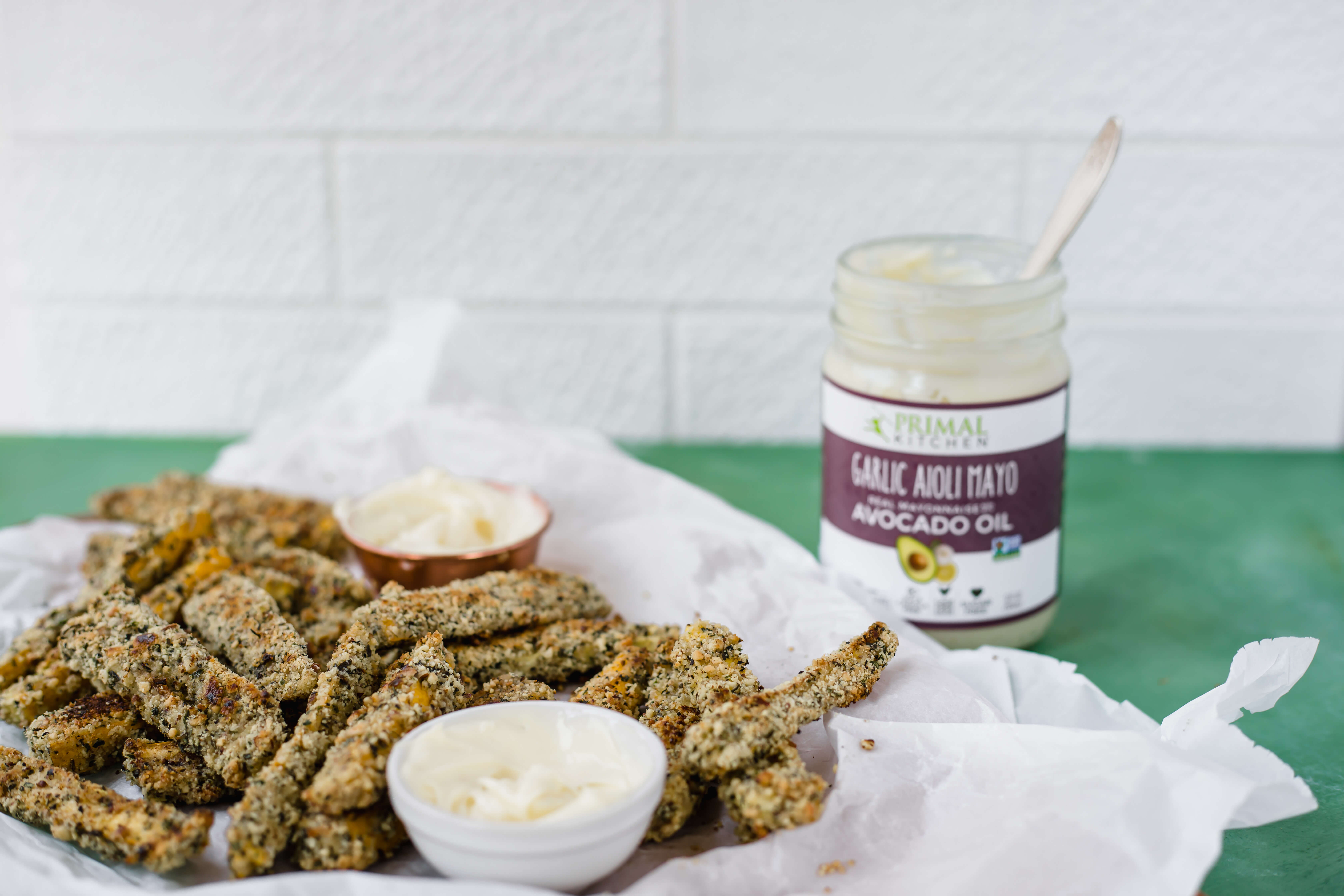 Oven Baked Zucchini Fries with Garlic Aioli