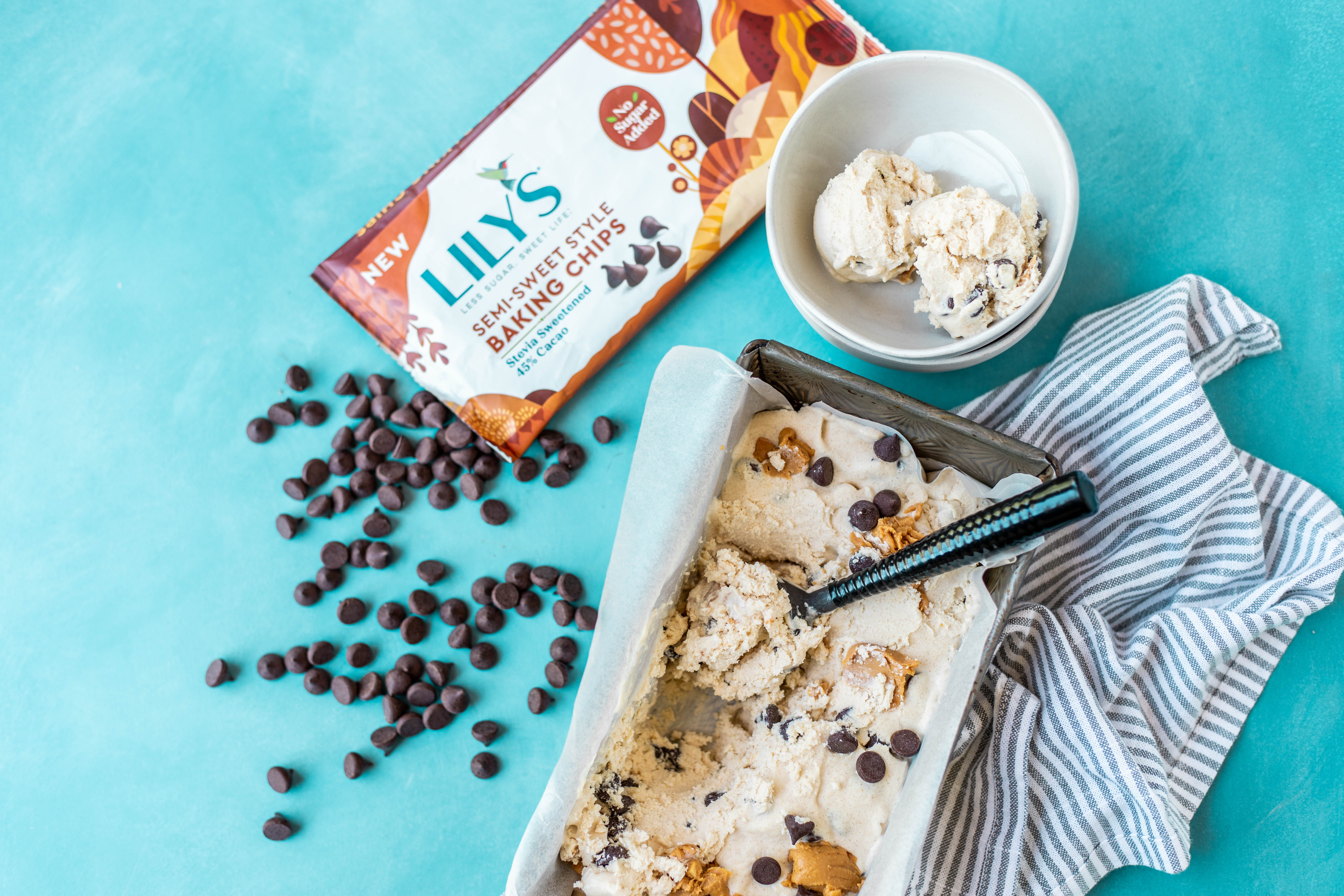 Low Carb Peanut Butter Chocolate Chip Ice-cream