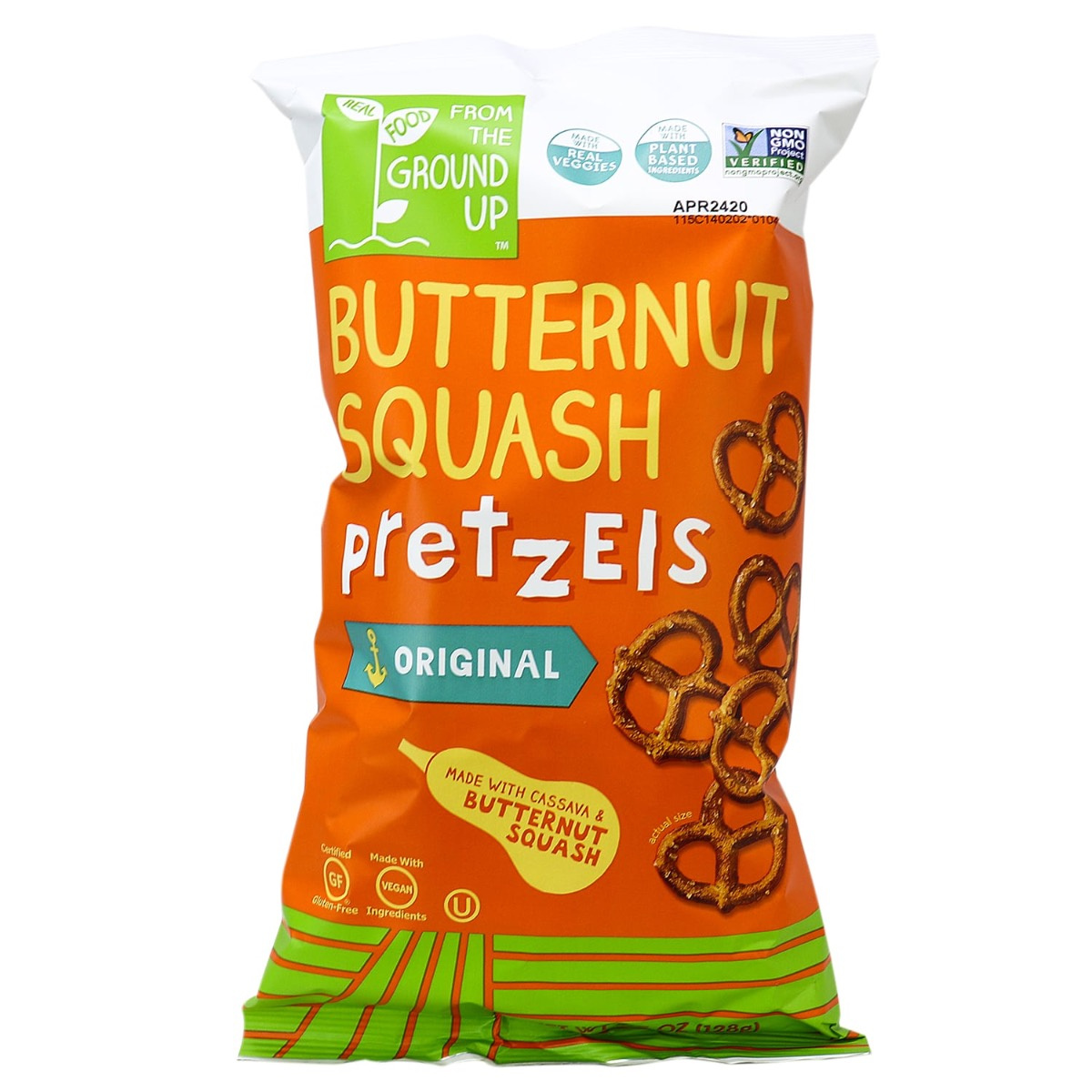 From The Ground Up from the ground up butternut squash pretzel twists original, 128g