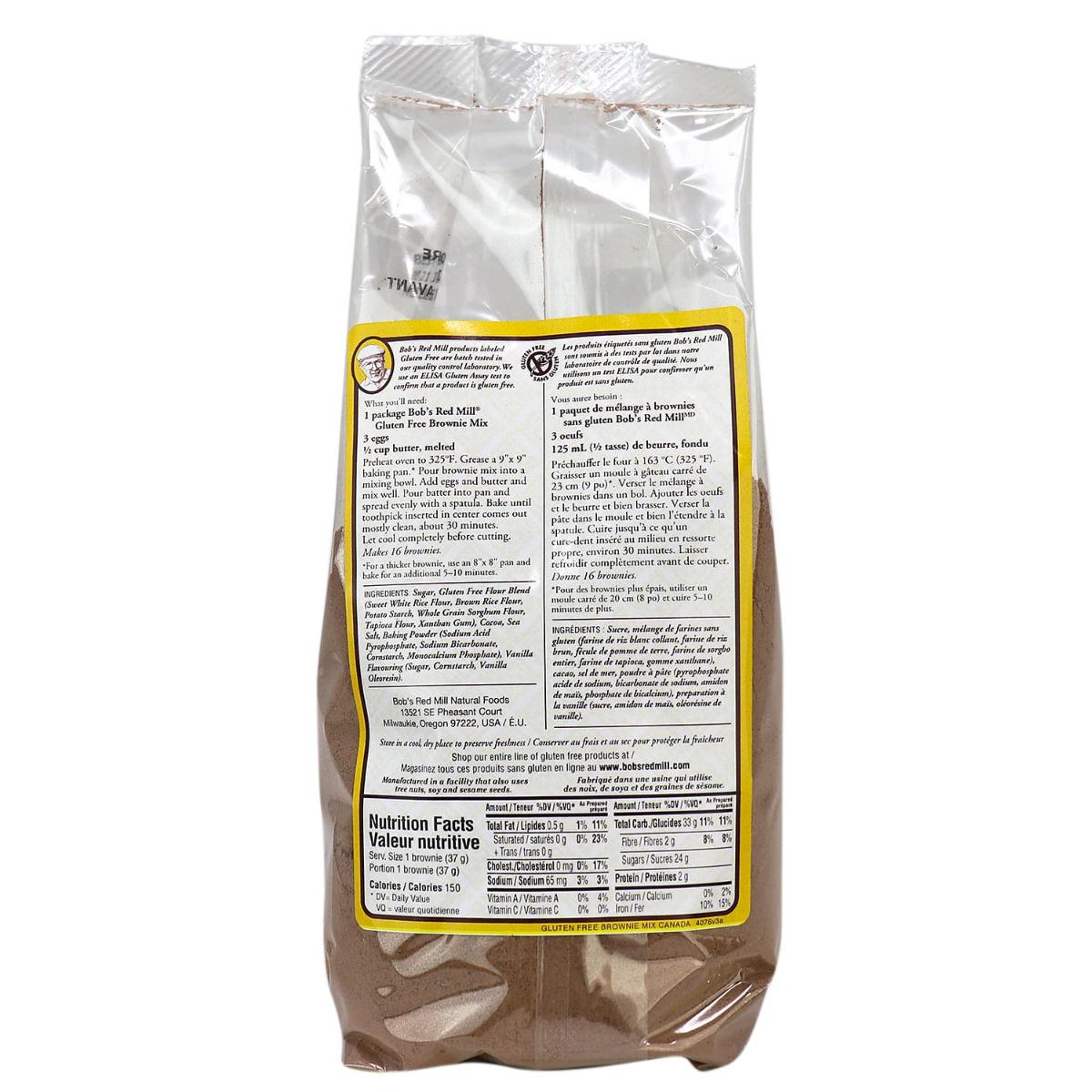 Bob's Red Mill Gluten Free Brownie Mix | NaturaMarket.ca